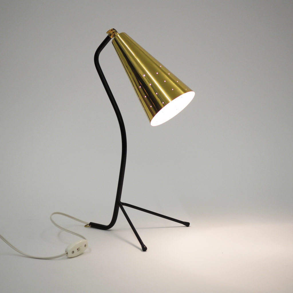 Scandinavian Mid Century Brass Table Lamp – mdrn
